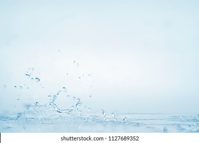 blue water splash background for freshness concept