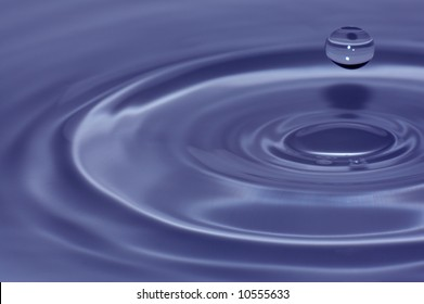 Blue water splash close-up, abstract background