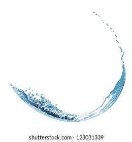 blue water splash isolated on