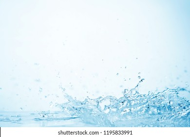 blue water splash on white background for abstract water concept