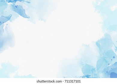 Blue Watercolor Abstract Background space for Typo graphic design