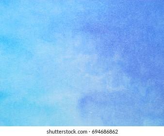 blue watercolor paper