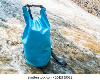 Blue waterproof bag
