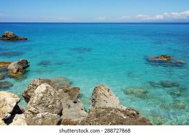 Blue Waters of the Agios Nikitas Beach, Lefkada, Ionian Islands, Greece