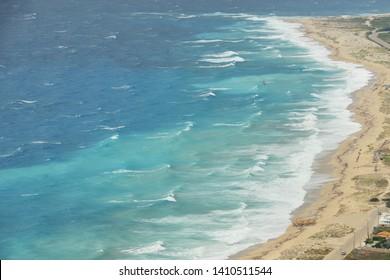 Blue waters of Ionian sea, Lefkada Greece