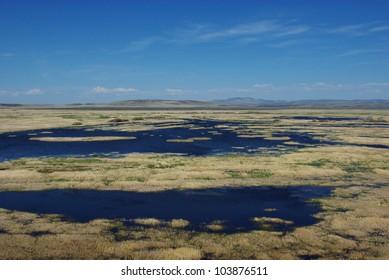 Blue waters near Malheur Lake, Oregon