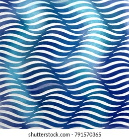 blue wavy abstract