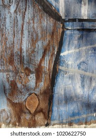 Blue Weathered Painted Wood Background