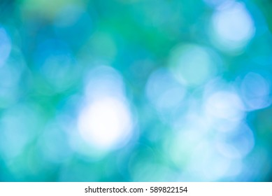 Blue and white bokeh from natural