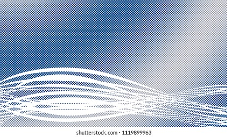 Blue and white checkered abstract background