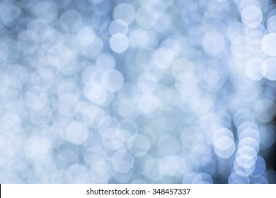 blue and white  Chrismas lights bokeh background