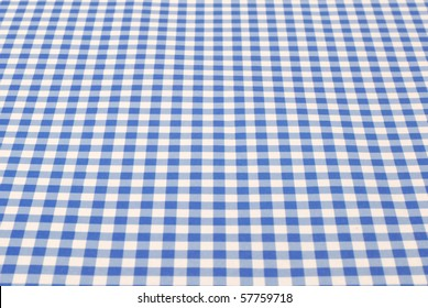 Blue and white cloth