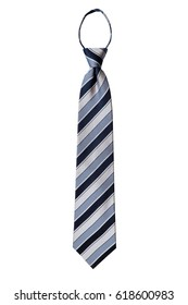 blue white color necktie on isolated background