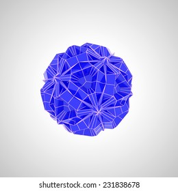 blue and white geometric shape