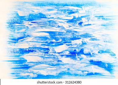 blue and white horizontal beautiful painted texture background