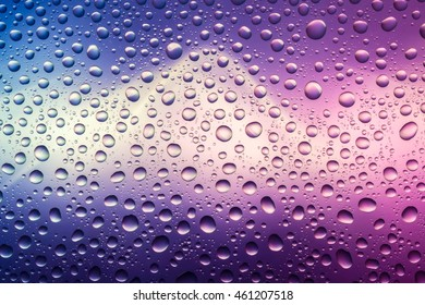 Blue white magenta water drops abstract gradient background