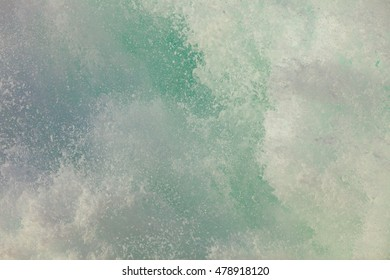 Blue white ocean water wave foam abstract background