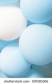 blue white party balloon texture close up for wedding or party new year background