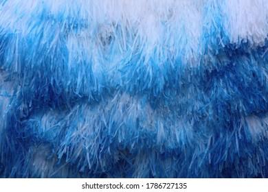 blue and white plastic shading net