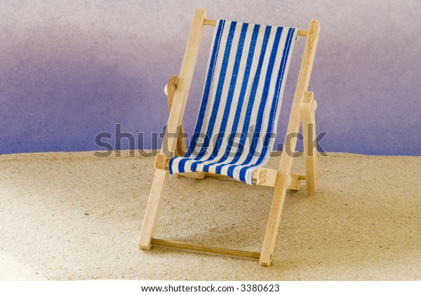 Excellent Blue White Striped Beach Chair On Stock Photo Edit Now 3380623 Caraccident5 Cool Chair Designs And Ideas Caraccident5Info