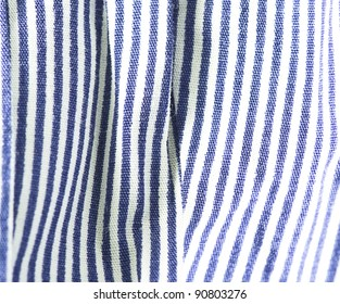 blue and white striped texture closeup