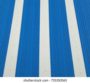 Blue and white un-plasticized polyvinyl chloride sheet for roof.