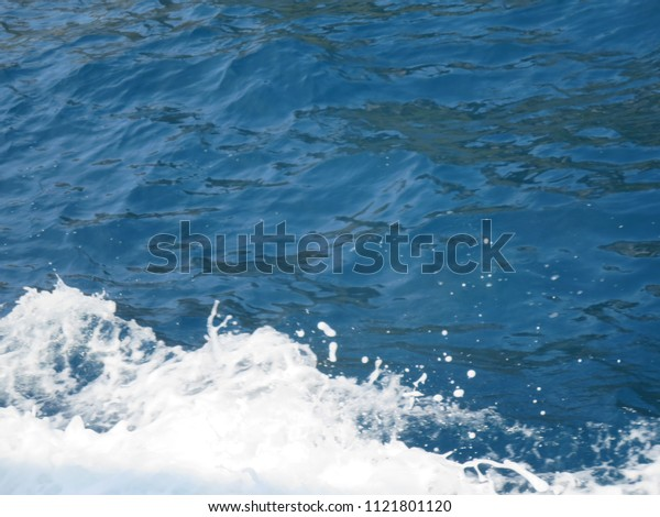 Blue and White water