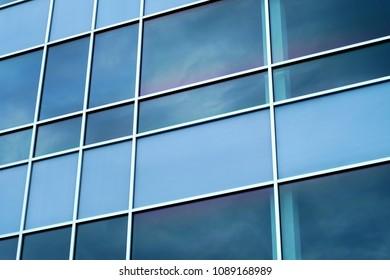 blue windows perspective background square corporate design
