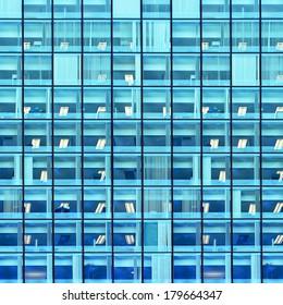 Blue windows urban background
