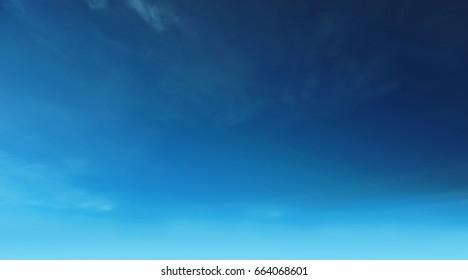 Blue winter sky