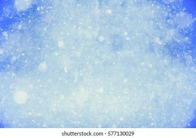 blue winter snow background