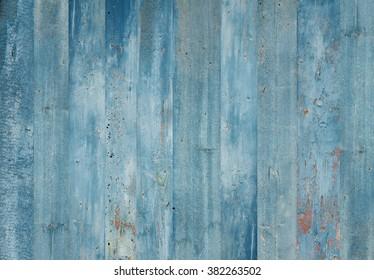 Blue wood background. Grunge