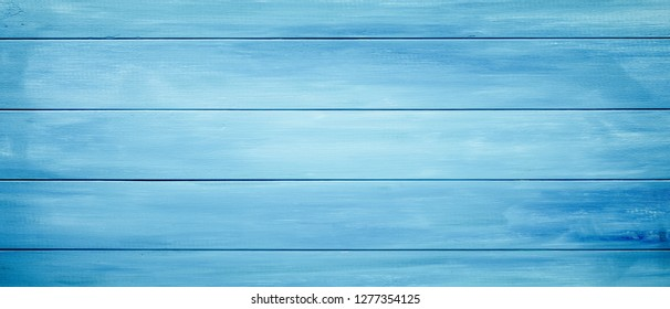 Blue wood planks background