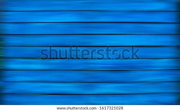 Blue wooden background. Vintage. Retro.