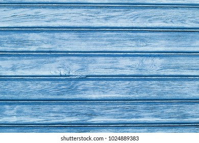Blue wooden desks pattern background.