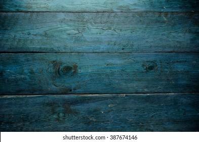Blue wooden planks background.