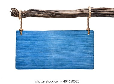 blue wooden signboard of a greek tavern isolated
