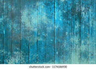 Blue wooden table background, texture