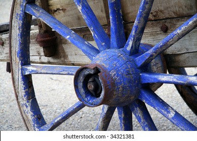 Blue Wooden Wheel