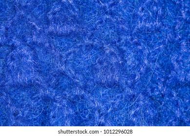 Blue wool texture. Close-up of felt