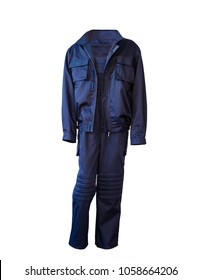 blue work suit, overalls or uniform