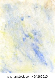 Blue and Yellow Abstract Watercolor Background