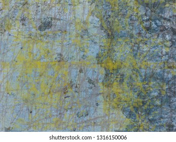 Blue and yellow concrete grunge background