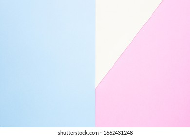Blue, yellow and pink color pastel paper for background