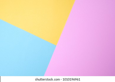 blue and yellow and purple pastel paper color for background