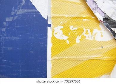 blue yellow urban street poster background texture