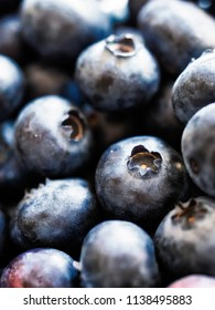 Blueberries close-up, differential focus