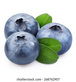 blueberries isolated Clipping Path