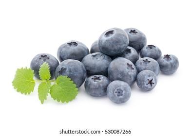 blueberries isolated fresh juisy blueberries isolated on white background.