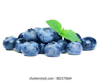 Blueberries, isolated on white.